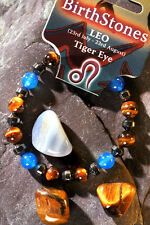 'LEO' Gemstone 'Power Bracelet' plus a free guide book & bookmark.