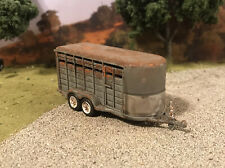 1/64 Diecast Cattle Horse Trailer Custom Rusty Weathered Barn Find Customized