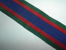 MEDAL RIBBON-WW2 OLD COTTON 'CVSM' CANADIAN VOLUNTARY SERVICE MEDAL RIBBON