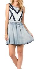 NWT Miss Me Juniors Sweet Surprise Chambray Dress Size M
