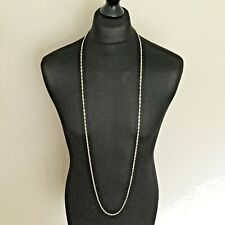 Ladies Silver Tone Extra Long Reading Glasses Chain 136cm Necklace,  Statement.