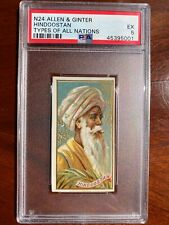 1889 N24 Allen & Ginter Types Of All Nations HINDOOSTAN PSA 5 EX
