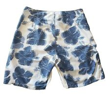 New listing Anchor Blue Men swim shorts/Trunk size 36 with bottle opener attached