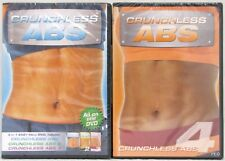 Crunchless Abs 1 2 3 and 4 DVD Lot of 2 Exercise Workout Savvier New