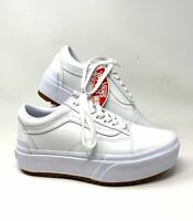 VANS OLD SKOOL STACKED LEATHER White Women's Size Sneakers VN0A4U15OER