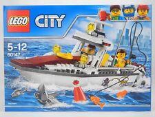LEGO 60147 FISHING BOAT Set City Shark Fish Floats Harbour 2 Minifigures NEW Box