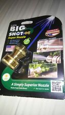 New listing Little Big Shot Super Nozzle Water Spray Hose Garden Brass Made In Usa New