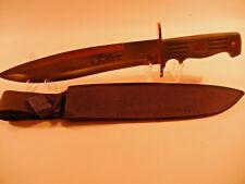 "Frost Cutlery QS-522RUB Quicksilver Rubber Handle Bowie 15"" wBlack Nylon Sheath"