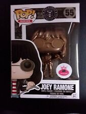 "FUNKO POP ROCKS  # 55 ""JOEY RAMONE"" METALLIC GOLD POP"