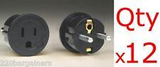 x12 American To European Schuko Plug Adapter US USA to Europe EU Converter