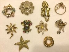 MULTICOLOR & GOLDTONE PINS -Lot of 10