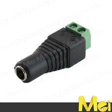 R020 connettore femmina JACK 5MM con morsettiera a vite per strisce led