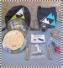 Vintage MSR Whisperlite Shaker Jet Camp Backpack Stove + MSR Pan Set
