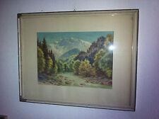 Carl FABER (1885-1962) SCHWÄBISCH-GMÜND MÜNCHEN STUTTGART Alpen Bach Wald TIROL?