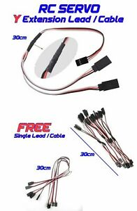 RC Y Cable Lead Servo Lead Wire JR 30 CM ARF Plane Drone Get Single Lead Free