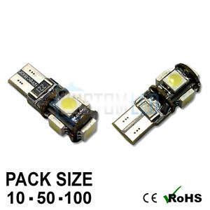 Wholesale Bright Canbus LED Side Light 501 W5W T10 5 SMD White Bulbs