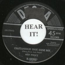 Red Foley 1950 C&W 45 (Decca) Chattanoogie Shoe Shine Boy/Sugarfoot Rag    VG++