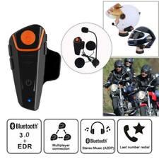 Motorcycle Helmet Bluetooth Headphone Motorbike Headset Intercom FM Radio