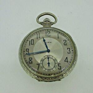 Antique 1921 Elgin Grade 315 Model 3 12s 15J 14k Gold Filled Pocket Watch