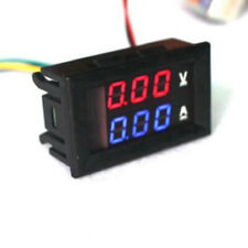 DC 100V 50A Digital Ammeter Blue + Red LED Volt Amp Meter Gauge Test Voltmeter