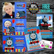 Personalised THOMAS THE TANK ENGINE Birthday Party Invitations X 5