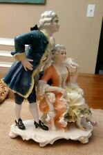 """KARL ENS VOLKSTEDT GERMANY FIGURINE MAN & WOMAN COUPLE 8"""""""
