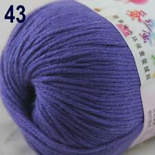 Sale New 1Ball x 50g Cashmere Silk Wool Hand Knit Wrap Shawls Crochet Yarn 43