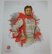 2016 Carlos Munoz signed Muri Inmobiliaria Honda Dallara Indy Car postcard