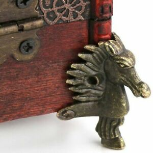 8pcs Jewelry Chest Gift Box Wood Case Decorative Feet Leg Corner Protector Guard