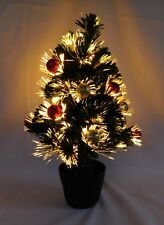 "Christmas Tree FIBER OPTIC with Red & Gold Ornaments (19"") Remote Control"