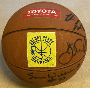 TEAM SIGNED AUTOGRAPHED GOLDEN STATE WARRIORS MINI BASKETBALL PURVIS SHORT