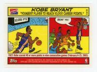 2003 Topps Bazooka KOBE BRYANT Rare COMIC SHORTPRINT CARD #8 Los Angeles Lakers