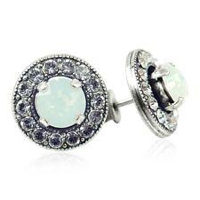 Ohrstecker mit Kristallen von Swarovski® Silber White Opal - NOBEL SCHMUCK