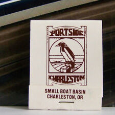 Rare Vintage Matchbook J1 Charleston Oregon Portside Small Boat Basin Bird