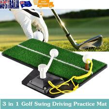 3 in 1 Golf Swing Driving Practice Mat Training Aids Tool Indoor/Outdoor