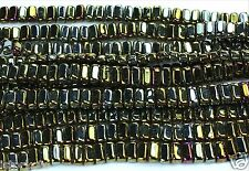 50 CzechMates Two Hole 2-Hole Brick Glass Beads Iris-Brown 3x6mm