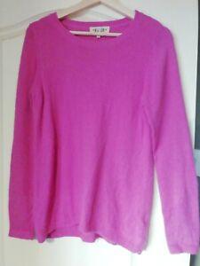 New Look 10 Pink angora rich Long Sleeve Soft Knitwear Jumper Autumn pretty
