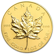 1989 Canada 1 oz Gold Maple Leaf BU - SKU #77411