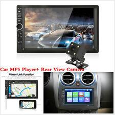 "7"" Car Dash Stereo Radio 2 DIN Bluetooth MP5 Player AUX + Rear View Camera HD"