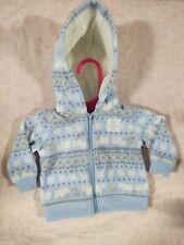 Baby Boy Hoodie Sweater Size Newborn Infant Coat Baby Winter Sweater Blue
