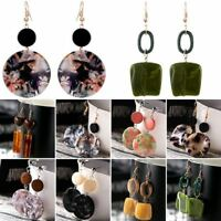 1Pair Women Boho Geometric Round Dangle Drop Hook Ear Stud Earrings Jewelry Gift