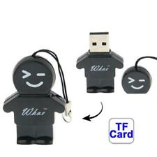 Micro Lettore Nero forma Bimbo da Micro SD T-Flash a USB Card Reader (8718)