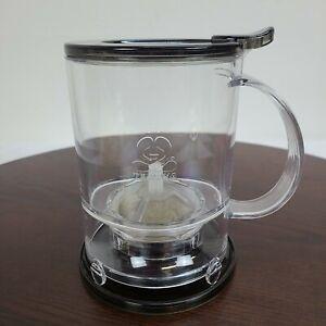 Teavana Perfect 16oz Tea Maker Tea Loose Leaf Infuser Clear Black