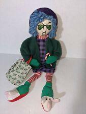 Maxine Plush Shelf Sitter Christmas Shopper Hallmark Holiday Stuffed Doll