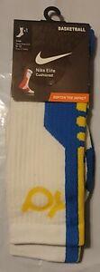Nike Men's Elite KD Cushioned Basketball Socks White SX4736 147 Size 8-12 Large