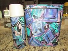 """Vintage Rare Old Tall 1962 Psychedelic Vinyl 9"""" Lunchbox Brunch Bag & Thermos"""