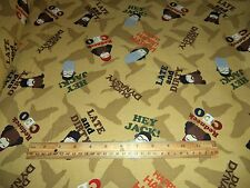 DUCK DYNASTY FABRIC - A&E NETWORK  - SOLD BY THE YARD - 4+ YARDS IN STOCK