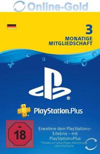 DE PlayStation Plus 3 Monate Mitgliedschaft - PSN 90 Tage Key - PS5 PS4 PS3 Code
