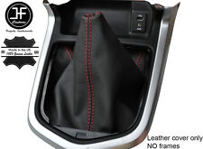 Rojo Cuero Cosido Manual Gear gaiter se ajusta Navara NP300 D23 2015-2017