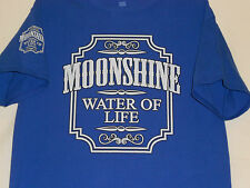 Mens Moonshine Water Of life T-Shirt Liquor Whiskey Funny Hanes SS Adult Medium